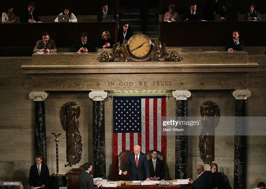 Congress Meets To Certify Electoral College Votes In Presidential Election : News Photo