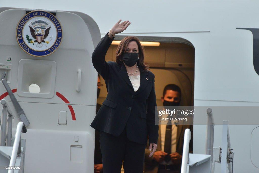 Kamala Harris Returns Washington D.C.  After Working Visit To  Mexico : News Photo