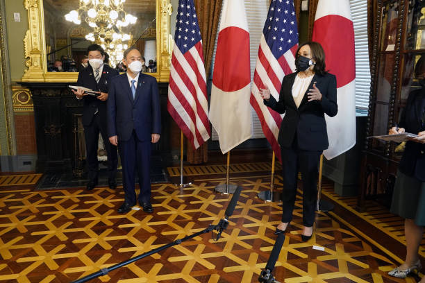 DC: Vice President Harris Meets Japanese Prime Minister Suga