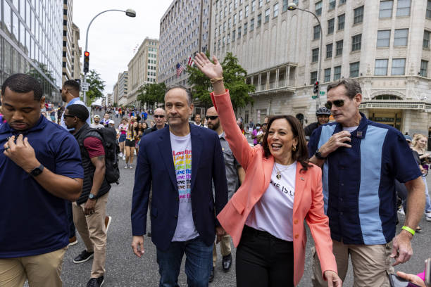 DC: Vice President Harris Attends Capitol Pride Walk And Rally