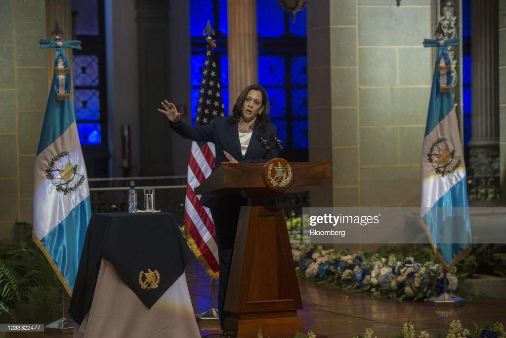 U.S. Vice President Harris Meets With Guatemalan Leaders : News Photo