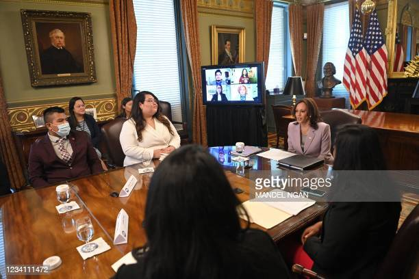 DC: Vice President Harris Meets With DACA Recipients At The White House