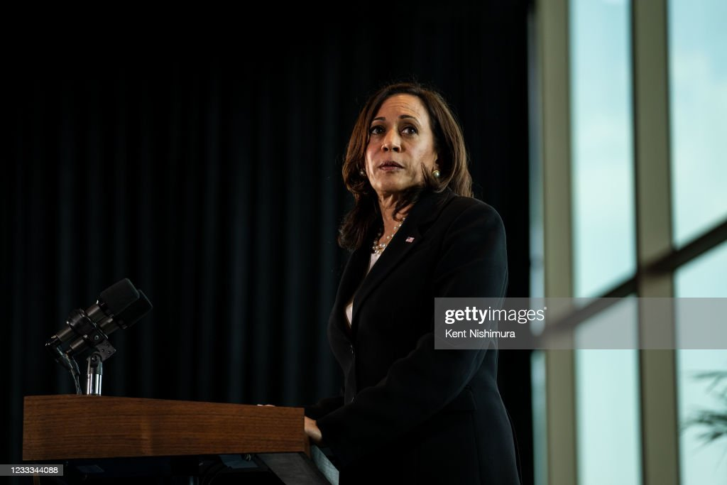 Vice President Kamala Harris vists Mexico City : News Photo