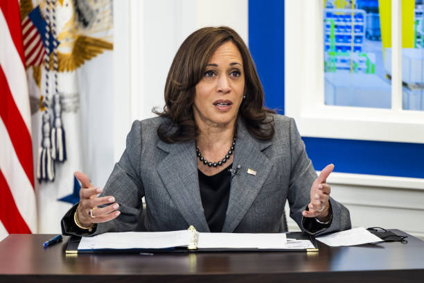 DC: Vice President Harris Holds Roundtable With Labor Secretary Walsh