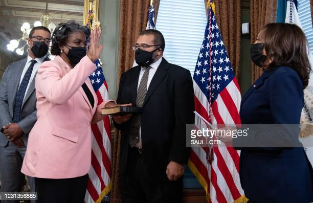 DC: Vice President Harris Swears In Two Cabinet Members For Biden Administration