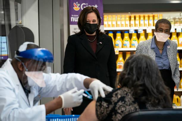 DC: Vice President Harris Visits Local Pharmacy Aiding In Vaccine Distribution