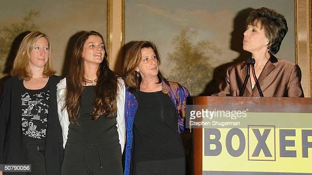 HBO Vice President Keri Putman Director Katja von Garnier Producer Paula Weinstein and Senator Barbara Boxer attend Senator Barbara Boxer's Women...
