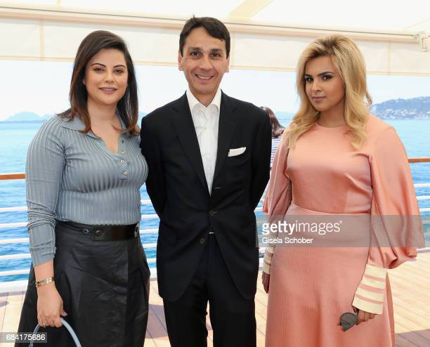 Vice President Managing Director Swarovski Workshop at Swarovski Francois Le Troquer Sheikha Aisha Al Thani and guest attend the Atelier Swarovski...