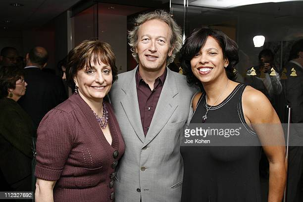 Vice President Member Services of the Recording Academy Nancy Shapiro Paul Katz of the Recording Academy and Angelia Bibbs Sanders of the Recording...