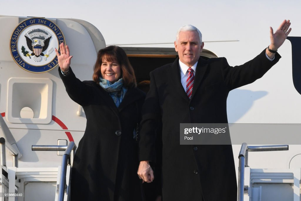 U.S. Vice President Mike Pence Visits South Korea : News Photo
