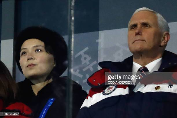 Vice President Mike Pence and North Korea's Kim Jong Uns sister Kim Yo Jong attend the opening ceremony of the Pyeongchang 2018 Winter Olympic Games...