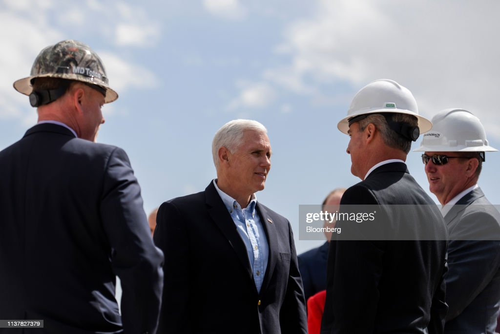 TX: Vice President Mike Pence Visits Permian Basin Oil Field And Diamondback Oil Rig