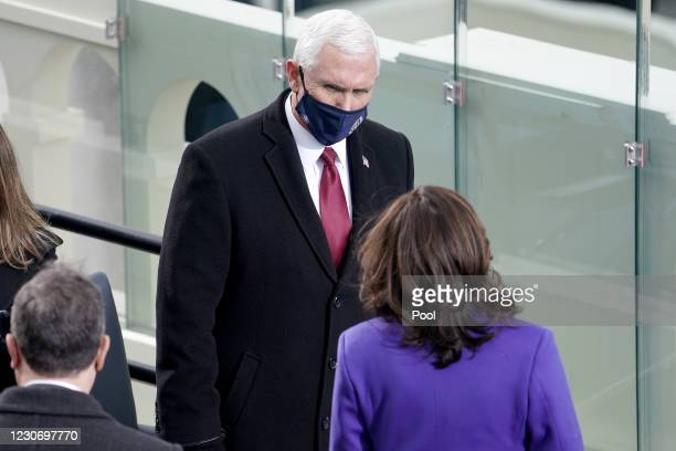 Vice President Mike Pence is seen prior to the 59th Presidential Inauguration on January 20, 2021 in Washington, DC. During today's inauguration...