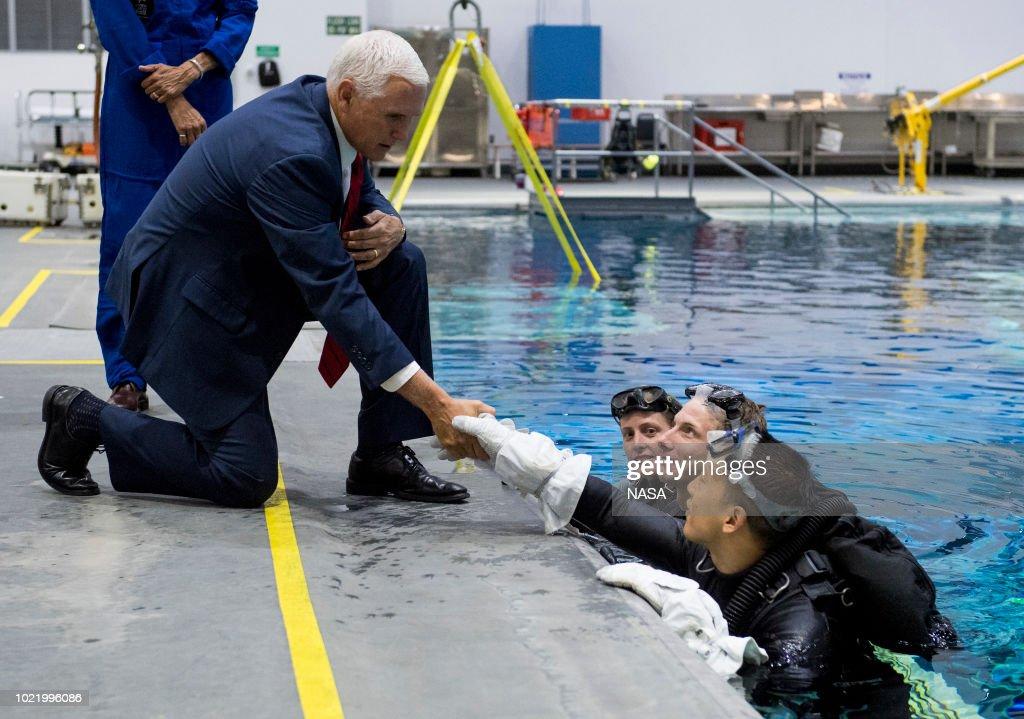 VP Pence visits Johnson Space Center : News Photo