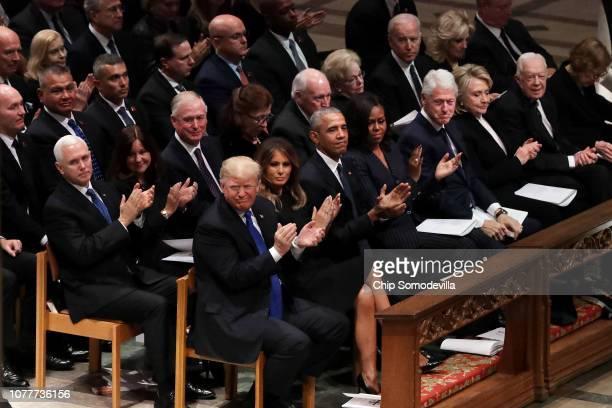 Vice President Mike Pence, Karen Pence, former Vice President Dan Quayle, Marilyn Quayle, former Vice President Dick Cheney, Lynne Chaney, President...