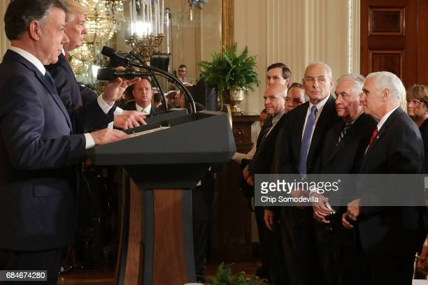 US Vice President Mike Pence Secretary of State Rex Tillerson Homeland Security Secretary John Kelly White House Chief of Staff Reince Priebus...