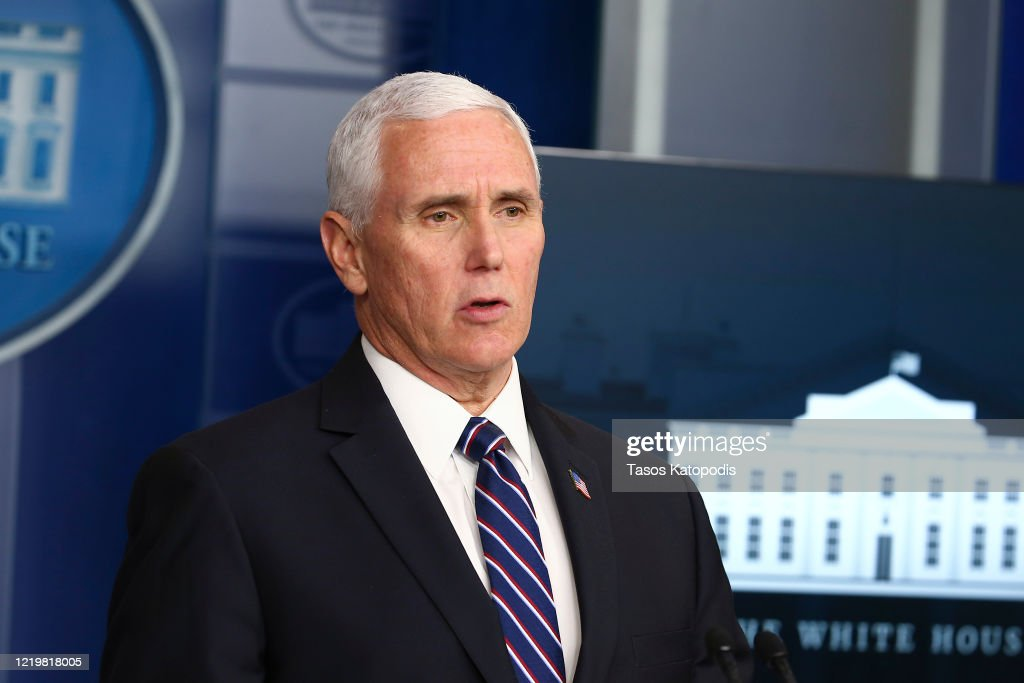 The White House Holds Daily Briefing On Coronavirus Pandemic : News Photo