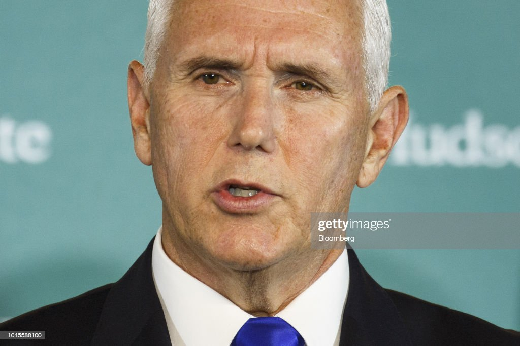 Vice President Pence Speaks On China Policy At Hudson Institute : News Photo