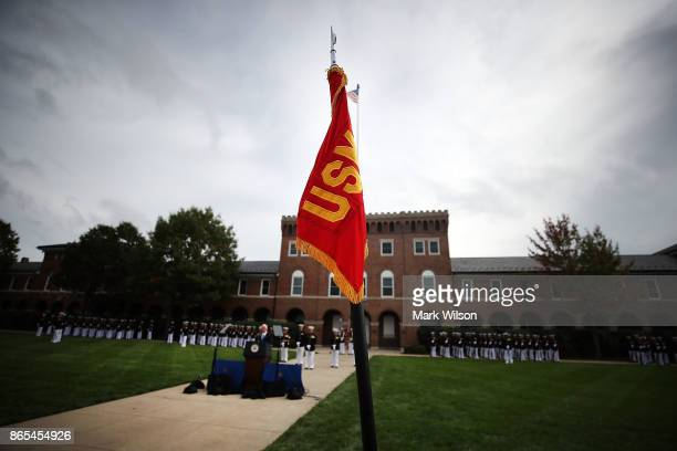 S Vice President Mike Pence speaks at the Marine barracks to commemorate the anniversary of the 1983 bombing of the Marine barracks in Beirut Lebanon...