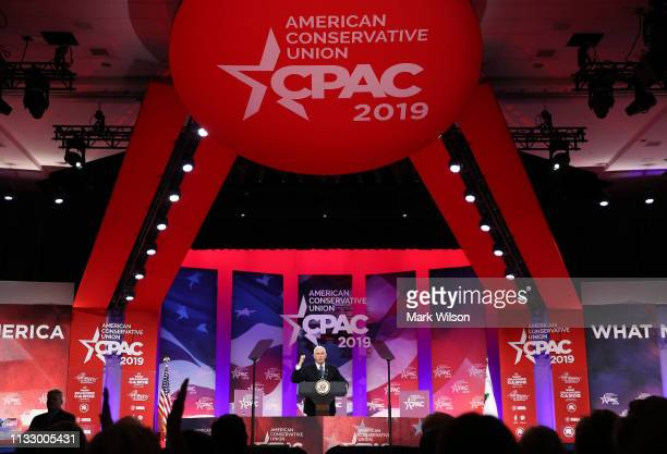 S Vice President Mike Pence speaks during CPAC 2019 March 1 2019 in National Harbor Maryland The American Conservative Union hosts the annual...
