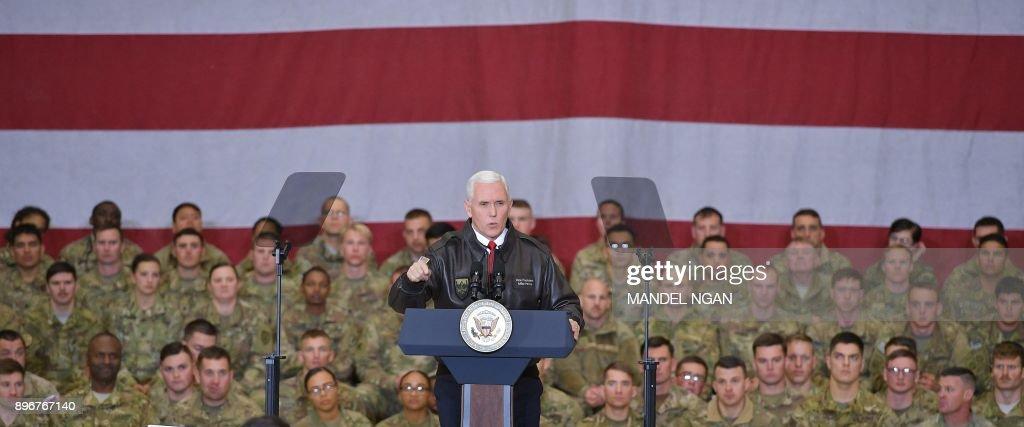 AFGHANISTAN-US-PENCE : News Photo