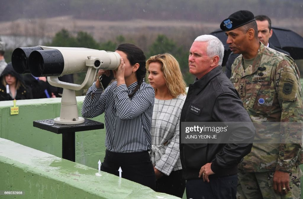 U.S. Vice President Mike Pence Visits The Demilitarized Zone
