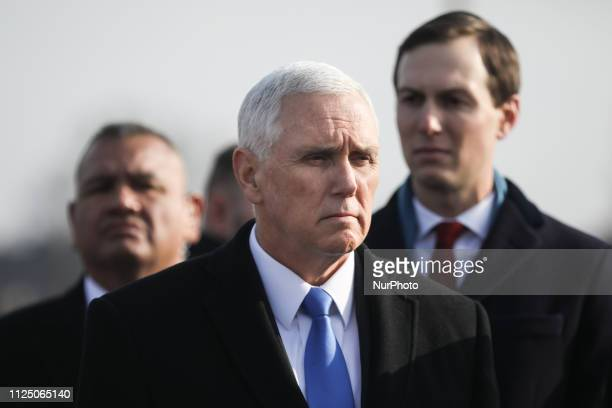 US Vice President Mike Pence visits the AuschwitzBirkenau former Nazi concentration camp on February 15 2019 in Oswiecim Poland