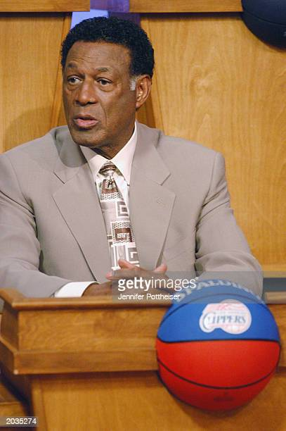 Vice President of Basketball Operations Elgin Baylor of the Los Angeles Clippers attends the 2003 NBA Draft Lottery on May 22 2003 in Secaucus New...