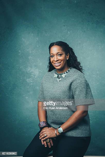 Vice President of Brand Partnerships and Commercial Licensing at Atlantic Records Camille Hackney is photographed for Billboard Magazine on September...