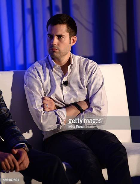 Vice President of Branded Entertainment at Funny or Die Chris Bruss speaks onstage at Video Brand Storytelling A Marriage of Art and Science during...