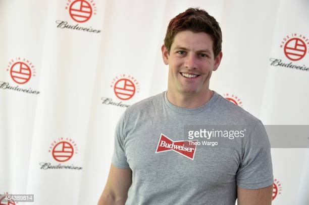Vice President of Budsweiser Brian Perkins poses backstage at the 2014 Budweiser Made In America Festival at Benjamin Franklin Parkway on August 30...