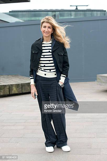Vice President of Buying at Net A Porter Sarah Rutson on day 3 during London Fashion Week Autumn/Winter 2016/17 on February 21 2016 in London England