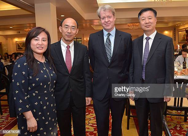 Vice President of China Chamber of Commerce Liu Chun Commercial Counselor Chinese Consulate General Los Angeles Liu Haiyan Charles 9th Earl Spencer...
