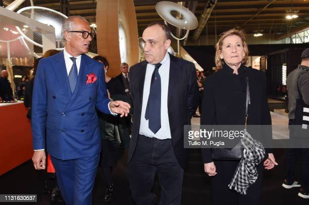 Vice President of Confindustria Moda Cirillo Marcolin Minister of Cultural Heritage and Activities Alberto Bonisoli and ANFAO General Manager Astrid...