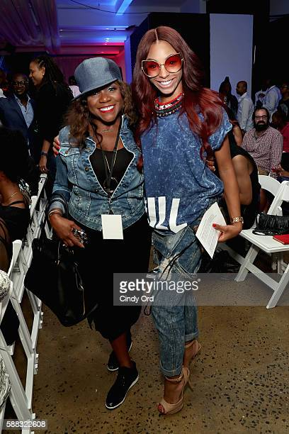 Vice President of Design and UX Maureen Carter and Jamila Mustafa attend the BET How To Rock Denim show Inside at Milk Studios on August 10 2016 in...