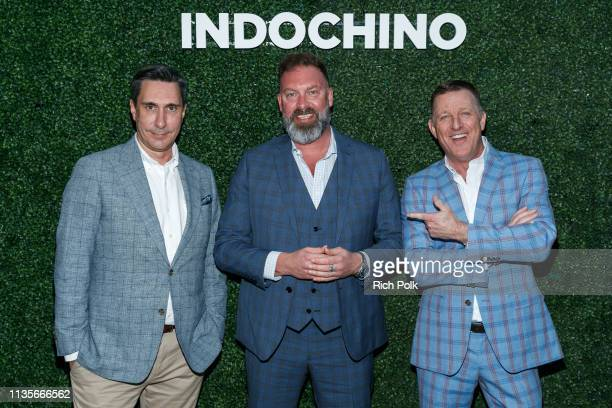 Vice President of Design Dean Handspiker Chief Executive Officer Drew Green and Chief Revenue Officer Peter Housley pose for a photo at SkyBar at the...