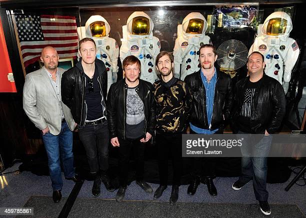 Vice President of Entertainment at the Hard Rock Hotel Casino Las Vegas Chas Smith singer/drummer Dan Reynolds bassist Ben McKee guitarist Wayne...