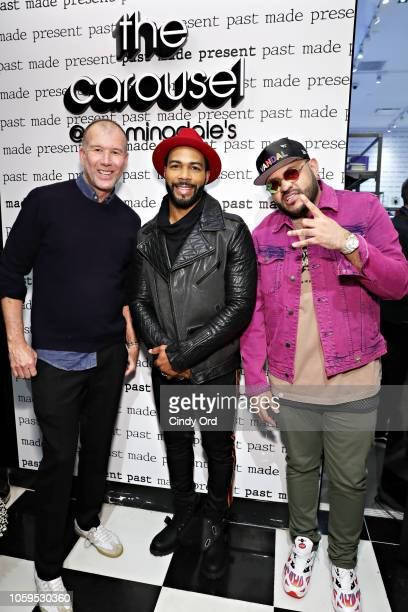 Vice President of Fashion at Bloomingdale's Kevin Harter actor Omari Hardwick and Mike Upscale Vandal Camargo attend as Bloomingdale's celebrates The...