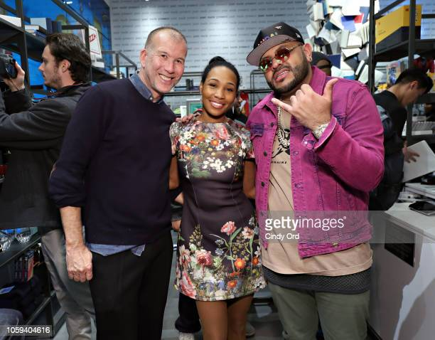 Vice President of Fashion at Bloomingdale's Kevin Harter Harlem Candle founder Teri Johnson and Mike 'Upscale Vandal' Camargo attend as...