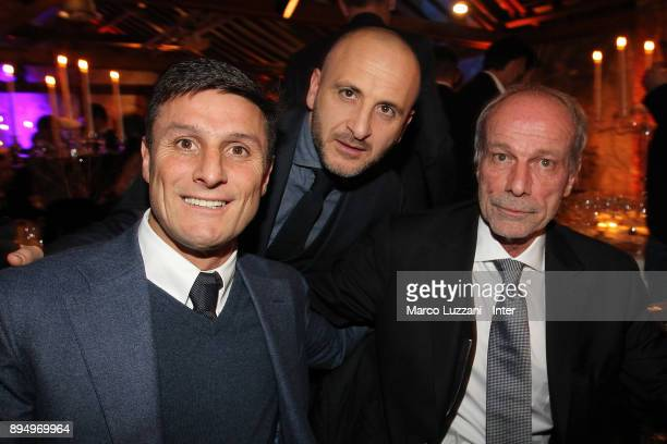 Vice President of FC Internazionale Milano Javier Zanetti Sportif Director of FC Internazionale Milano Piero Ausilio and attends FC Internazionale...