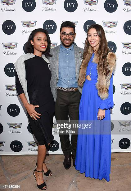 Vice president of FleishmanHillard Guia Golden communications manager at General Motors/Cadillac Eneuri Acosta and blogger Thania Peck attend IVY Los...