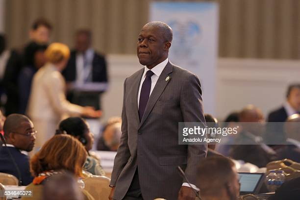 Vice President of Ghana Amissah Arthur Kwesi Bekoe attends the Midterm Review of the Istanbul Programme of Action in Antalya Turkey on May 27 2016...