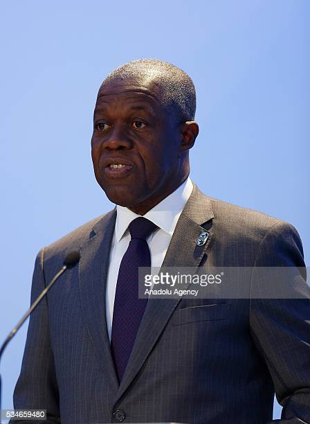 Vice President of Ghana Amissah Arthur Kwesi Bekoe delivers a speech during the Midterm Review of the Istanbul Programme of Action at Titanic Hotel...