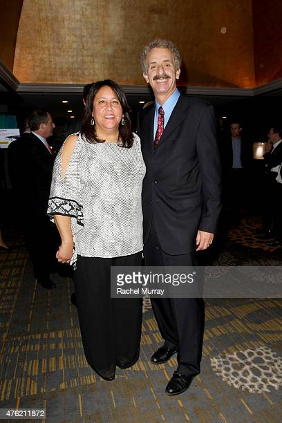 Vice President of Global Green USA Mary Luevano and LA City Attorney Mike Feuer attend the Global Green USA 19th Annual Millennium Awards on June 6...