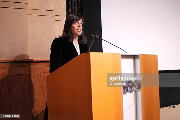 Vice President of HBO Documentary Films Nancy Abraham addresses invited audience members before the HBO Documentary Films Screening of Taxi to the...
