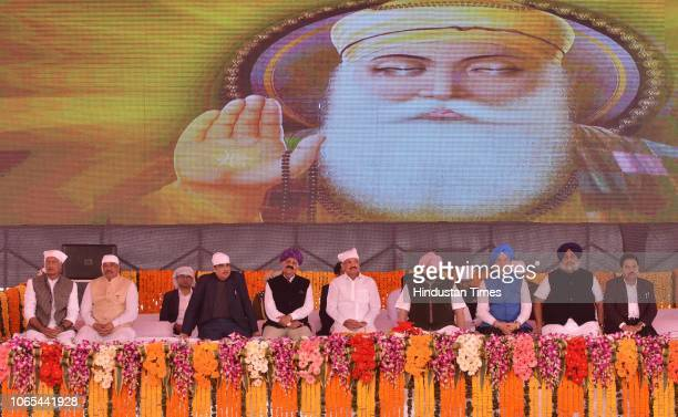 Vice President of India M Venkaiah Naidu along with Punjab Chief Minister Captain Amarinder Singh VP Singh Badnore Governor of Punjab Nitin Gadkari...