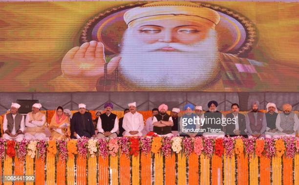 Vice President of India M Venkaiah Naidu along with Punjab Chief Minister Captain Amarinder Singh VP Singh Badnore Governor Punjab Nitin Gadkari...