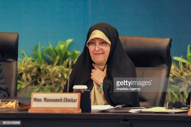 Vice President of Iran for Women and Family Affairs Masoumeh Ebtekar attends the High Level Consultation of World Muslim Scholars on Wasatiyyat Islam...