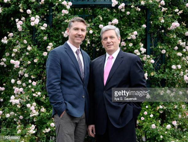 Vice President of Landscape Outdoor Collections and Gardens Brian Sullivan and President of Piaget North America Larry Boland attend Piaget Rose Day...