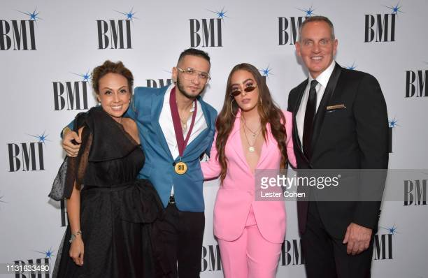 BMI Vice President of Latin Music Delia Orjuela Brasa ALINA and BMI President Chief Executive Officer Mike O'Neill attend the 26th Annual BMI Latin...